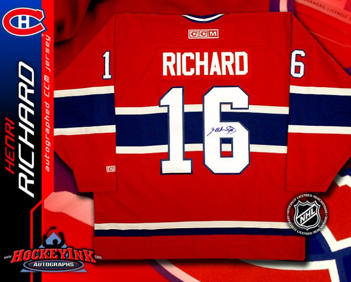 the best attitude f98b4 01fa0 Henri Richard Montreal Canadiens Red CCM Replica Jersey