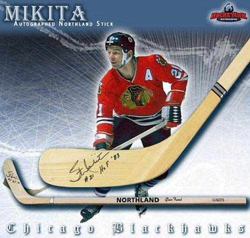 421fb8773e8 Stan Mikita Chicago Blackhawks Autographed Northland Model Stick