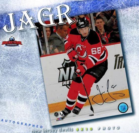 cheaper 19605 28075 Jaromir Jagr New Jersey Devils 8 x 10 Autographed Photo