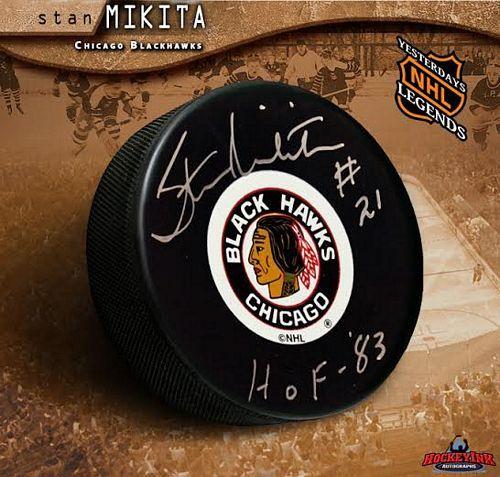 Stan Mikita Chicago Blackhawks Original 6 Autographed Hockey Puck ef5f05546