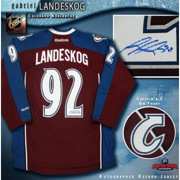 Gabriel Landeskog Colorado Avalanche Autographed Burgundy Reebok Jersey