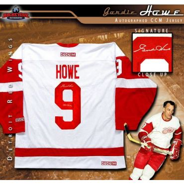 Gordie Howe Detroit Red Wings Autographed White Jersey