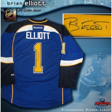Brian Elliott St. Louis Blues Autographed Blue Reebok Jersey