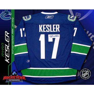 Ryan Kesler Vancouver Canucks Blue Autographed Reebok Premier Jersey
