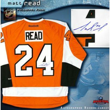 Matt Read Philadelphia Flyers Autographed Reebok Jersey