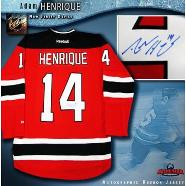 Adam Henrique New Jersey Devils Autographed Red Reebok Jersey