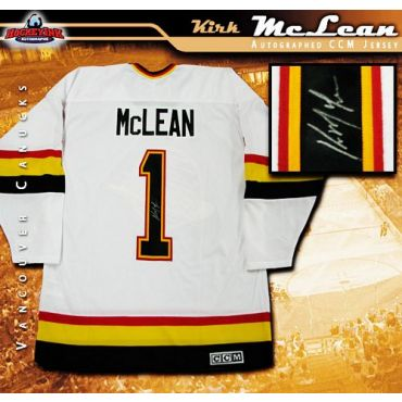 Kirk McLean Vancouver Canucks Autographed White CCM Jersey