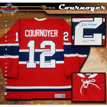 Yvan Cournoyer Montreal Canadiens Autographed CCM Jeresey