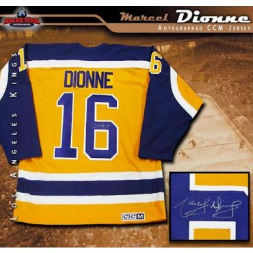 Marcel Dionne Los Angeles Kings Autographed Yellow Jersey