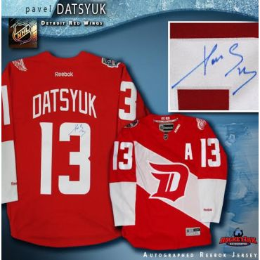 Pavel Datsyuk Autographed Detroit Red Wings 2016 Stadium Series Reebok Jersey