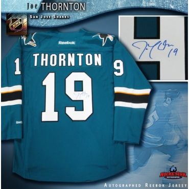 Joe Thornton San Jose Sharks Teal Reebok Premier Jersey