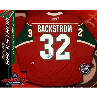Niklas Backstrom Minnesota Wild Red Reebok Premier Jersey