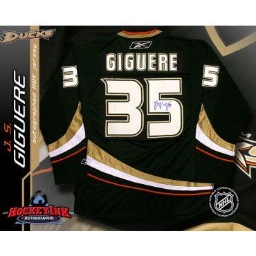 J.S. Giguere Anaheim Ducks Black Reebok Premier Jersey