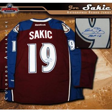 Joe Sakic Colorado Avalanche  Autographed with Hall of fame Inscription Burgundy Reebok Premier Jersey