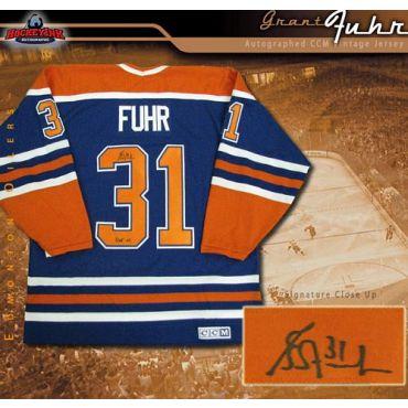 Grant Fuhr Edmonton Oilers Blue CCM Replica Jersey