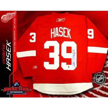 Dominik Hasek Detroit Red Wings Red Reebok Premier Jersey