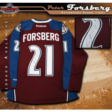 Peter Forsberg Colorado Avalanche Burgundy Reebok Premier Jersey