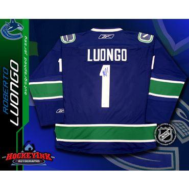 Roberto Luongo Vancouver Canucks Blue Reebok Premier Jersey