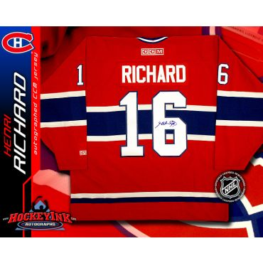 Henri Richard Montreal Canadiens Red CCM Replica Jersey