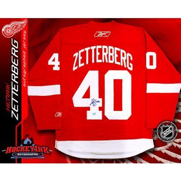 Henrik Zetterberg Detroit Red Wings Autographed Red Reebok Premier Jersey