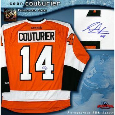 Sean Couturier Philadelphia Flyers Autographed Orange Reebok Premier Jersey