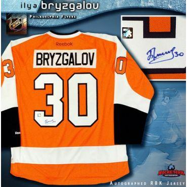 Ilya Bryzgalov Philadelphia Flyers Autographed Orange Reebok Premier Jersey