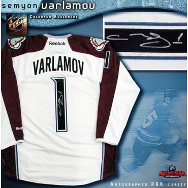 Semyon Varlamov Colorado Avalanche Autographed White Reebok Jersey