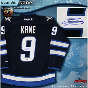 Evander Kane Winnipeg Jets Autographed Navy Reebok Jersey
