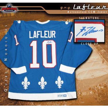 Guy Lafleur Quebec Nordiques Autographed Blue CCM Jersey