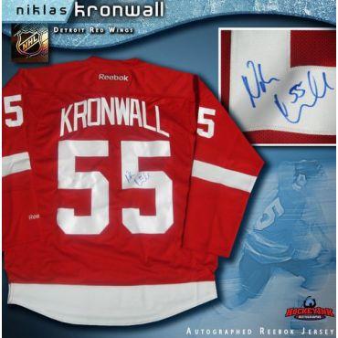 Niklas Kronwall Detroit Red Wings Autographed Reg Reebok Jersey