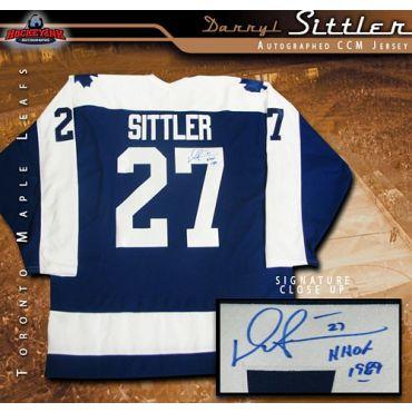 Darryl Sittler Toronto Maple Leafs Blue CCM Jersey