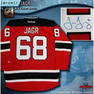 Jaromir Jagr New Jersey Devils Autographed Red Reebok Jersey