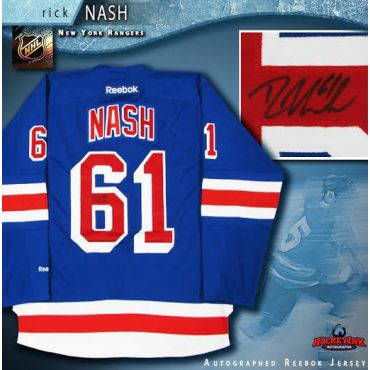 Rick Nash New York Rangers Autographed Blue Reebok Jeresey