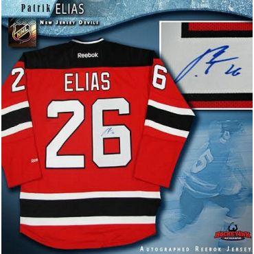 Patrik Elias New Jersey Devils Autographed Red Reebok Jersey