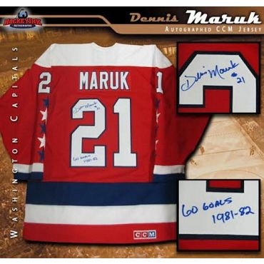 Dennis Maruk Washington Capitals Autographed Red CCM Jersey