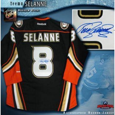 Teemu Selanne Anaheim Ducks Autographed Reebok Jersey