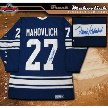 Frank Mahovlich Toronto Maple Leafs Autographed Vintage CCM Jersey