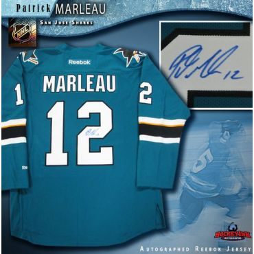 Patrick Marleau San Jose Sharks Autographed Teal Reebok Jersey
