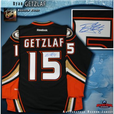 Ryan Getzlaf Anaheim Ducks Autographed Black 2014-15 Reebok Jersey