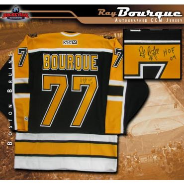 Ray Bourque Boston Bruins Autographed and Inscribed Black CCM Jersey