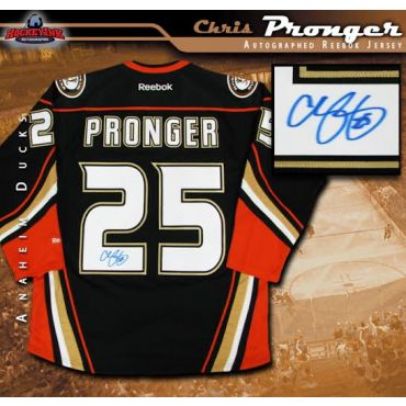 Chris Pronger Anaheim Ducks Autographed Black Reebok Alternate Jersey