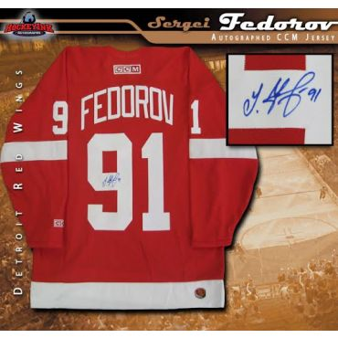 Sergei Fedorov Autographed Detroit Red Wings Red CCM Jersey