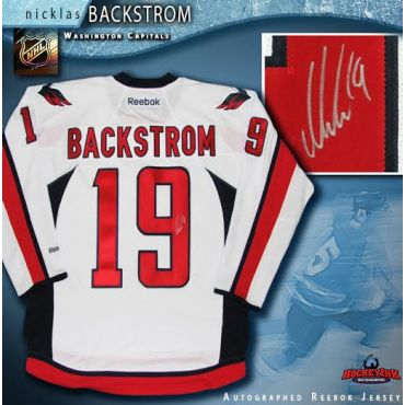 Nicklas Backstrom Washington Capitals Autographed White Reebok Jersey