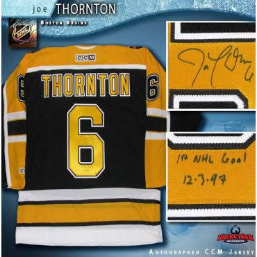 Joe Thornton Autographed Rookie Year Boston Bruins Black CCM Jersey