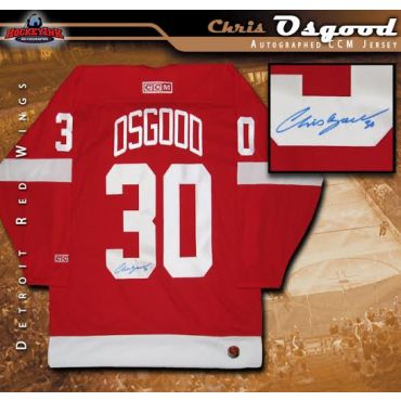 Chris Osgood Detroit Red Wings Autographed CCM Jersey
