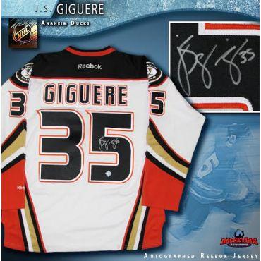 J.S. Giguere Anaheim Ducks Autographed White Reebok Jersey
