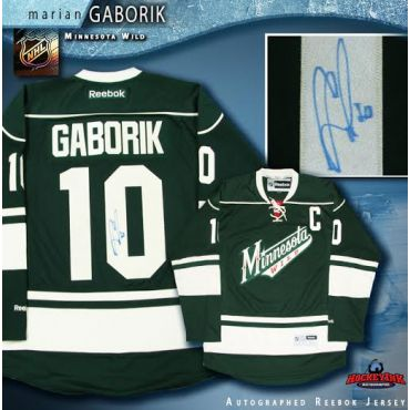 Marian Gaborik Minnesota Wild Autographed Green Reebok Jersey
