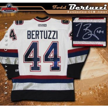 Todd Bertuzzi Vancouver Canucks Autographed White CCM Jersey