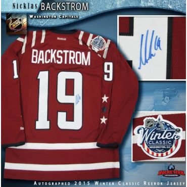 Nicklas Backstrom Autographed Washington Capitals 2015 Winter Classic Reebok Jersey