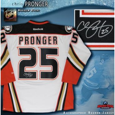Chris Pronger Autographed Anaheim Ducks White 2015-16 Reebok Jersey